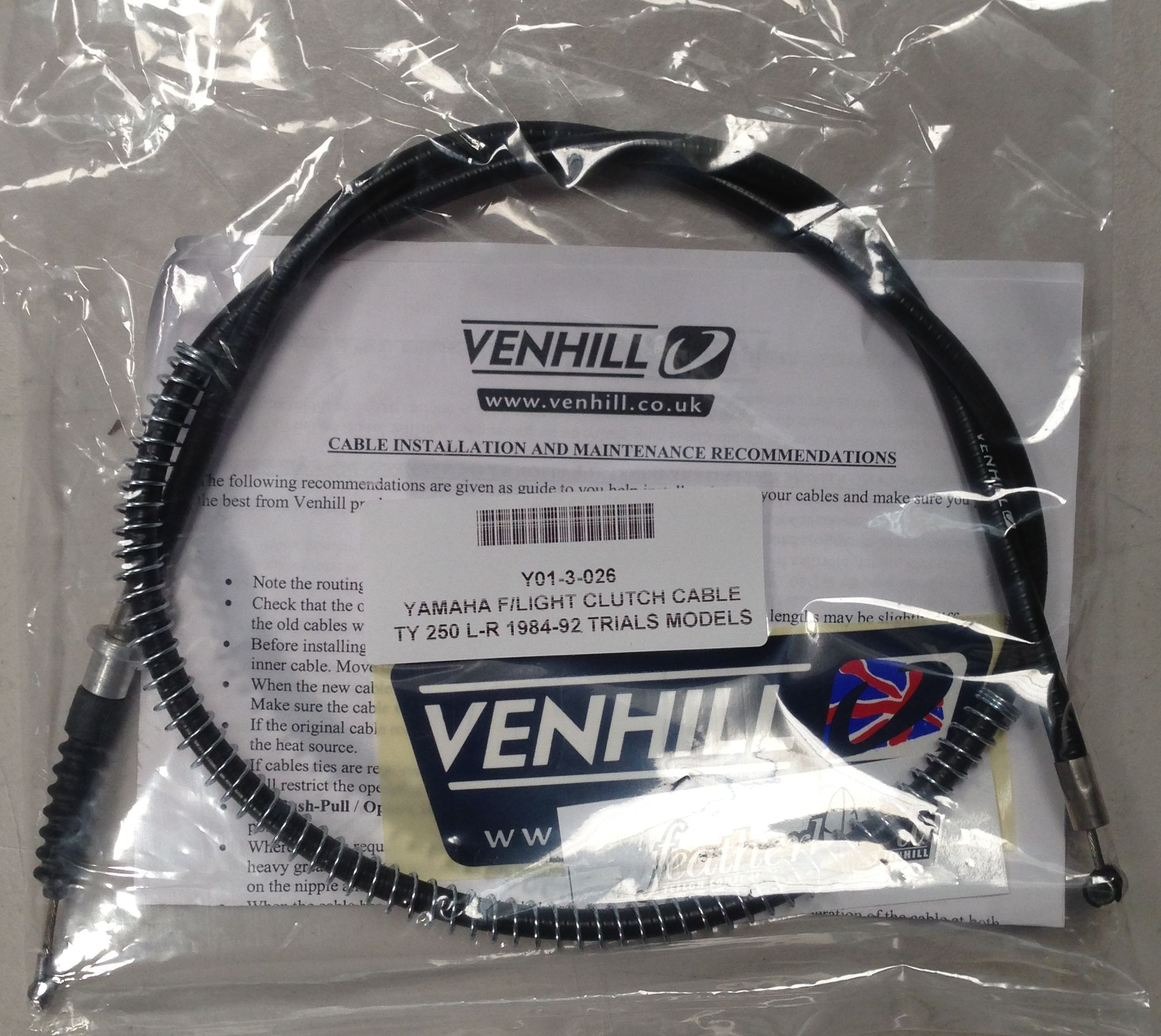 yamaha ty250r parts cambs trials centre ty250 350 venhill featherlight clutch cable